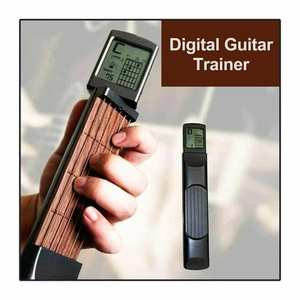 Pocket Guitar Chord-Trainer Practice-Tool Beginners Portable Diagram-Screen for Can-Rotate-Chord