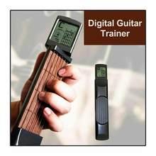 Portátil 6-tone bolso guitarra acord trainer ferramenta prática pode girar acord diagrama de tela guitarra finger trainer para iniciantes