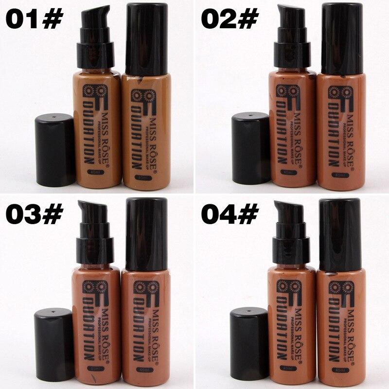 Corrector Nude Natural cara líquido Fundación primer maquillaje de belleza crema hidratante líquido de la cubierta completa corrector Facial Base de la Fundación - 2