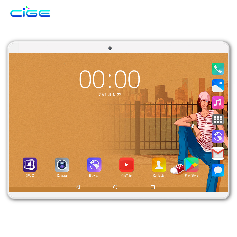 New 10 Inch Android 8.0 Tablet PC Octa Core 6G+64G IPS Screen 2.0MP+8.0MP Camera WIFI Tablets 4G LTE Network Dual Sim Phablet