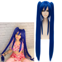 Wendy Marvell peruka do Cosplay 2018 Fairy Tail Final Series TV Anime niebieskie długie proste warkocze włosy syntetyczne
