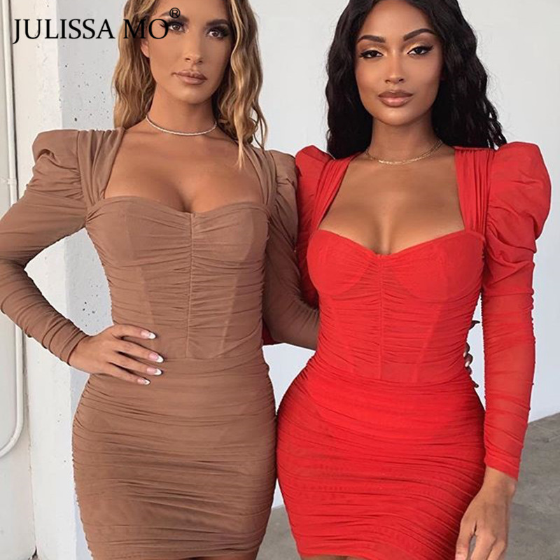 JULISSA MO mesh bodycon dress 2020 spring party dress (1)