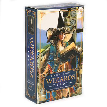 Wizards Tarot Card Deck Rider Waite Smith Based Deck And Full Color Guidebook English Game Toy Divination Prophet Fortune Tellin