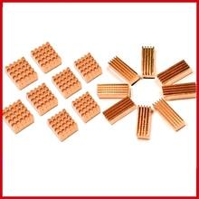 Pcooler Reinem Kupfer Chip kühlkörper 8 teile/satz Mit klebstoff Für RAM grafikkarte Laptop south bridge north bridge Kühlung