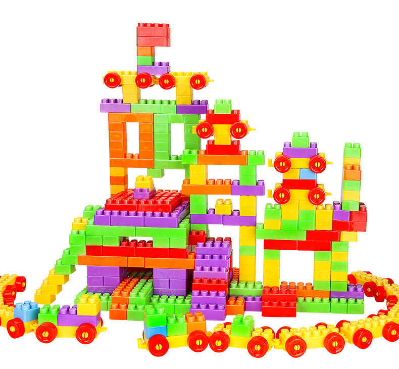 Przyjaciele klocki duże rozmiary edukacyjne dla dzieci zabawki dla dzieci duże cząstki miasto wczesne dzieciństwo cegły Xmas