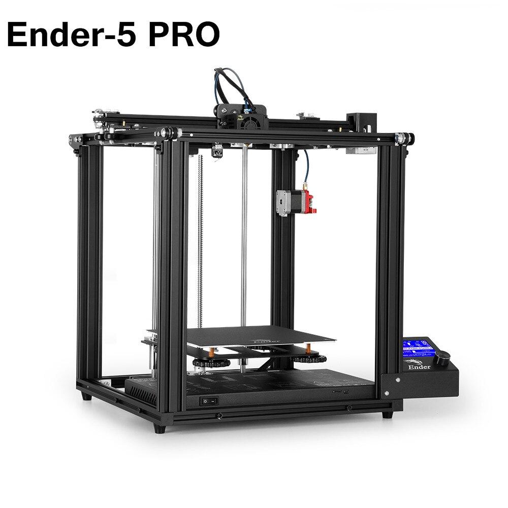 Crealité 3D nouvelle Ender-5 imprimante Pro avec carte silencieuse plaque de construction magnétique mise hors tension reprendre l'impression Structure fermée
