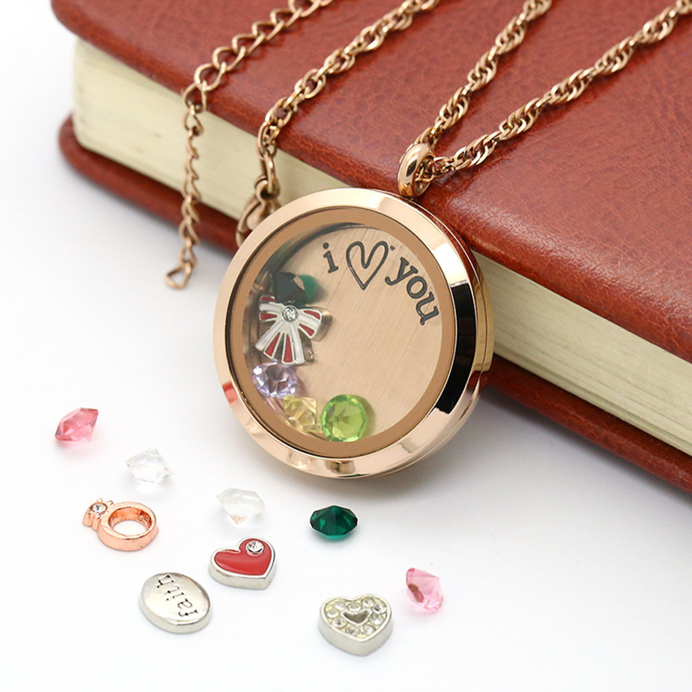 BOFEE floating locket charms JEWELRY GIFT