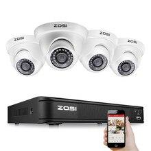 ZOSI – Kit de vidéosurveillance 8CH 1080P analogique AHD TVI, avec caméras de sécurité, caméscope DVR pour la maison