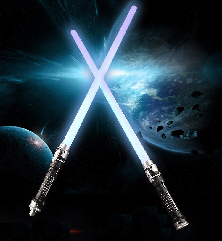 Light Toy Sword Two In One Laser Sword Sound Effect Blue Light Two Pack Boys