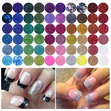 60 adet göz kamaştırıcı 60 renk parlak tırnak tozu toz 3D Nail Art dekorasyon pul akrilik UV Gem lehçe tırnak sanat aracı seti BENJ151 1