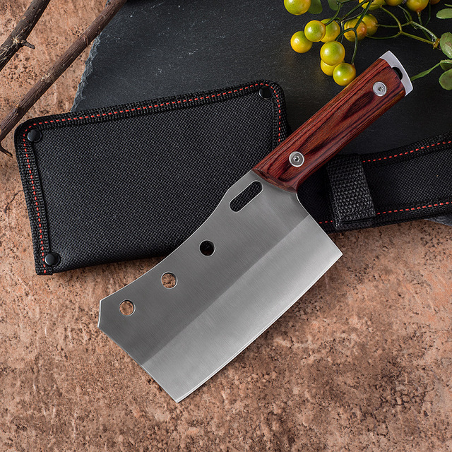 Shuoji Outdoor Chef Knife Camping Hunting Survival Knife Pocket Stainless Steel Kitchen Knives Fixed 5Cr15mov Blade Belt Sheath 1