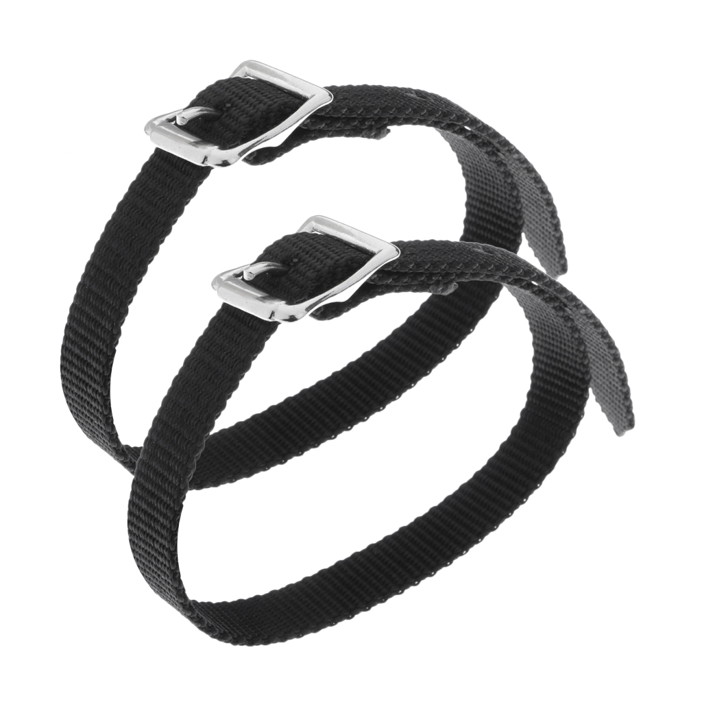 45cm Length Horse Riding English Spur Straps With Silver Buckles - Pack Of 4