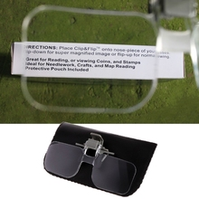 2021 New 2X Glasses Style Magnifier Magnifying Glass with Clip For Reading