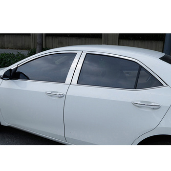 Lsrtw2017 for Toyota Corolla E210 Car Window Post Trims Decoration Chrome Interior Accessories 2019 2020