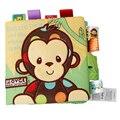 Baby Tuch Buch 3D Wasserdicht Tier Stil Affe/Eule/Hund Tuch Bücher Weichen Stoff Tuch Buch Lernen Frühen für Kinder bildungs auf