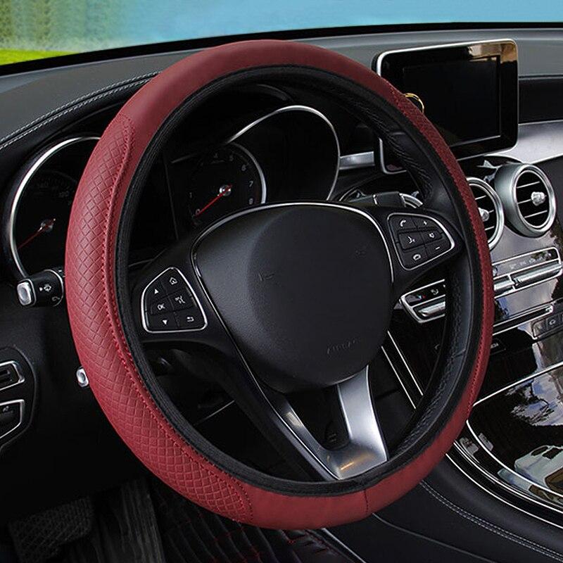 Hot Braiding Cover For Steering Wheel Fiber Leather Car Steering Wheel Cover For BMW E90 Peugeot 206 Ford Nissan Golf Mazda