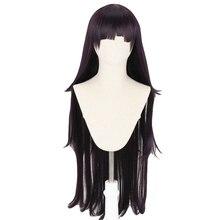 Dangan Ronpa Tsumiki Mikan ยาว 100 ซม.วิกผมคอสเพลย์ Danganronpa ผู้หญิงสังเคราะห์ผมฮาโลวีน PARTY Wigs