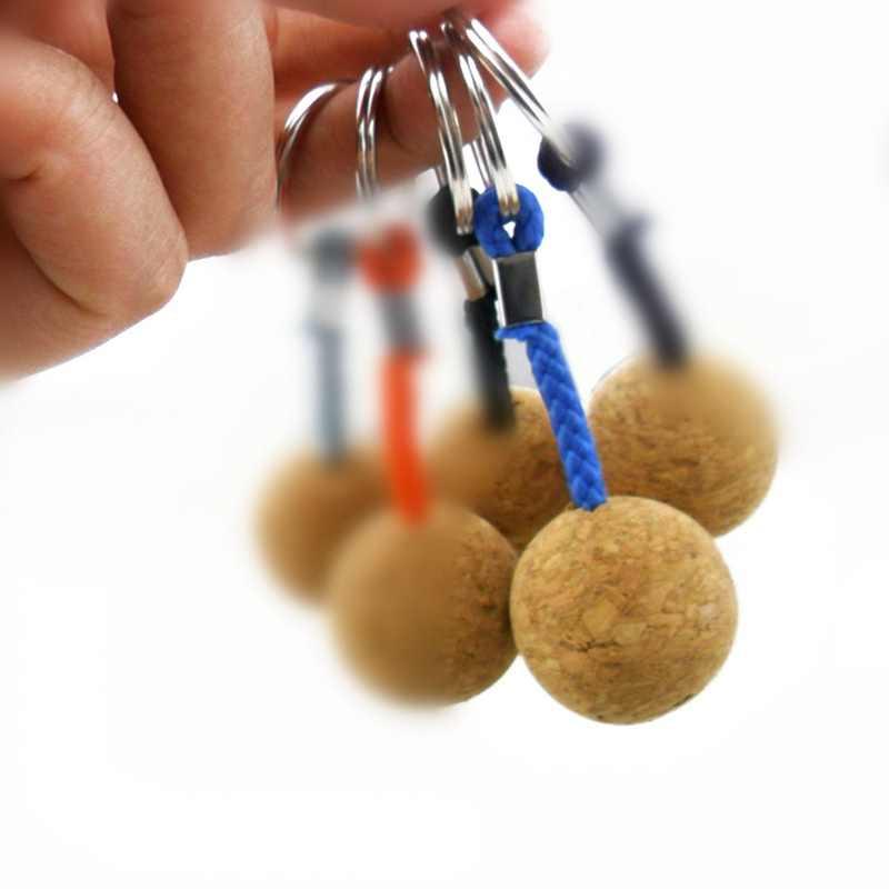 2x Floating Cork Keyring Floatable Key Ring Keychain Sailing Boating 35+50mm