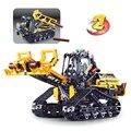 13386 863 stücke 2in1 technik raupe spur dumper loader bausteine Spielzeug Für Kinder