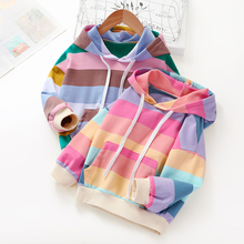 Baby Girl Clothes Striped Rainbow Hoodie
