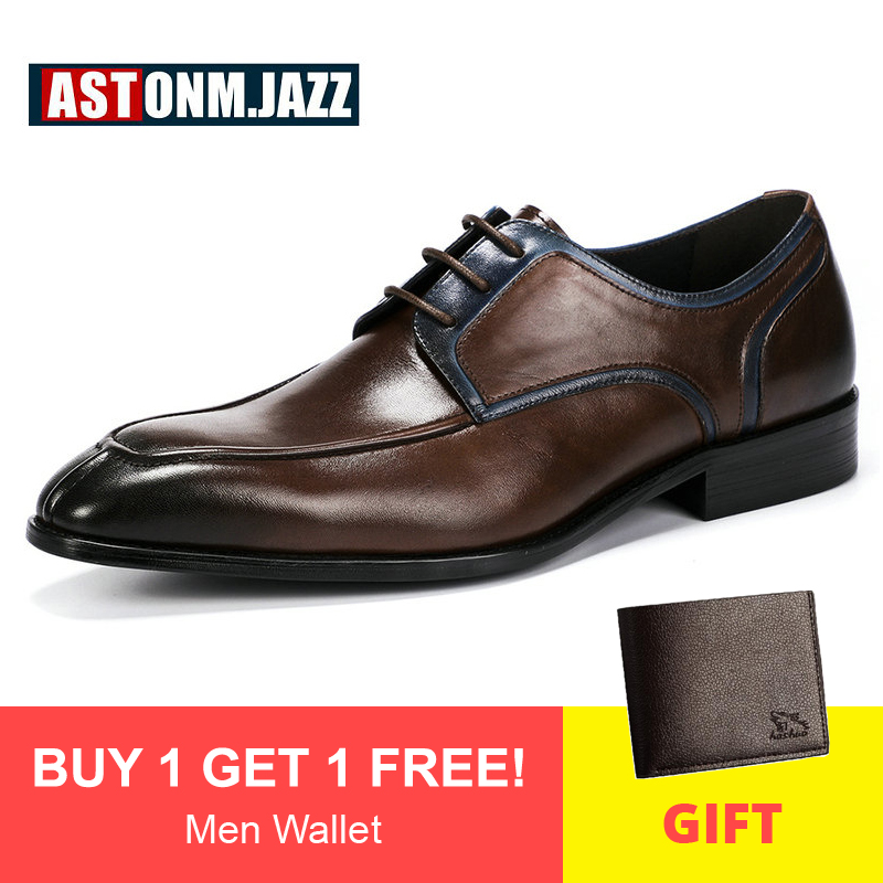 1 new Men/'s Casual Business Leather Lace Up Formal Oxfords Dress shoes