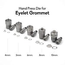 KALASO 1Set Eyelet Grommet Die 4mm 5mm 6mm 8mm 10mm 12mm 14mm 20mm For Hand Press Tool Machine