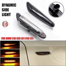 Indicador lateral dinámico Led, luz intermitente secuencial, enchufe de lámpara, interfaz de Pin, para BMW E90, E91, E92, E93, E60, E87, E82, E46