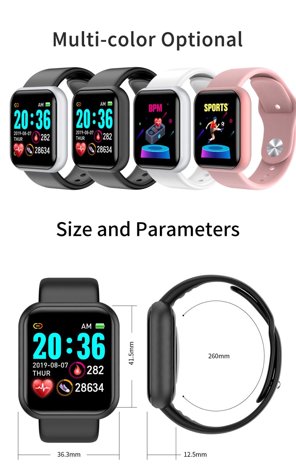 2020 New Smart Watch Men Women Blood Pressure Smartwatch Waterproof Heart Rate Tracker Sport Clock for Android IOS Apple Xiaomi
