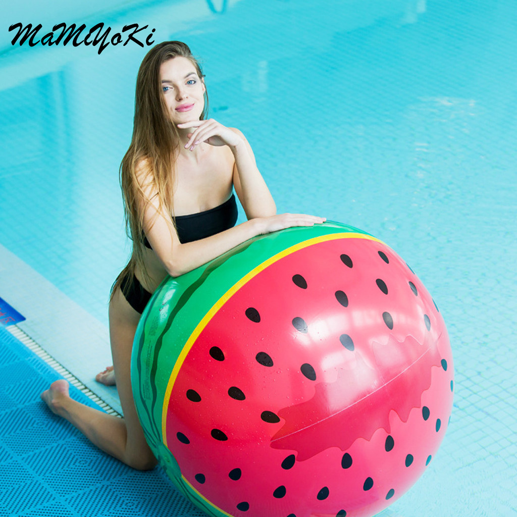 Punctual Oversized Inflatable Watermelon Beach Ball 90cm In Diameter Watermelon Adult Playing Water Play Ball Parent-child Game Ball High Standard In Quality And Hygiene