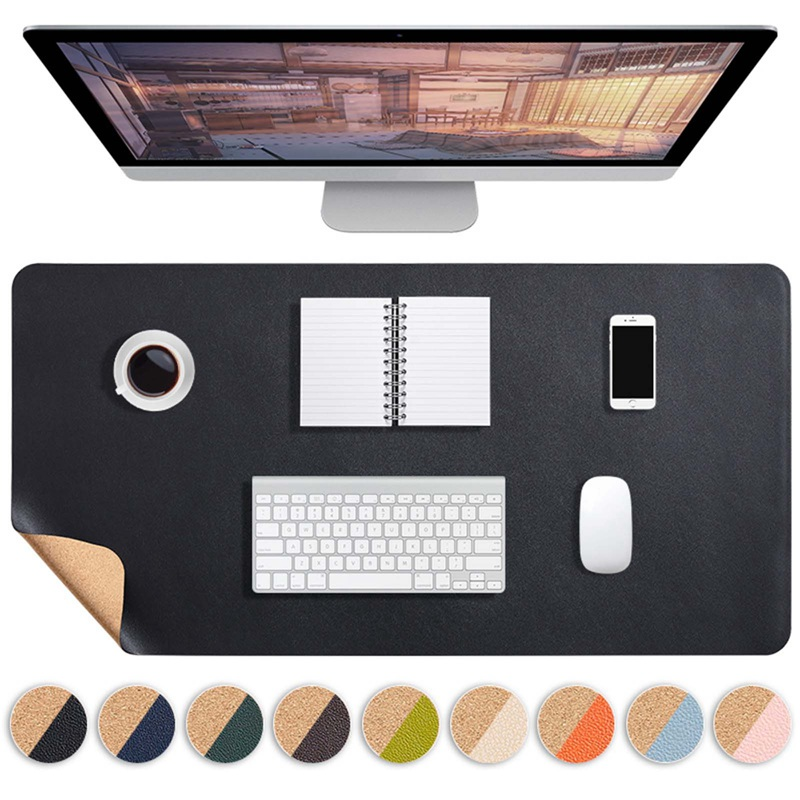 Large Mousepad Office Computer Desk Mat Gaming Waterproof PU Leather Double-side Keyboard Cover Non-slip Laptop Mouse Pad