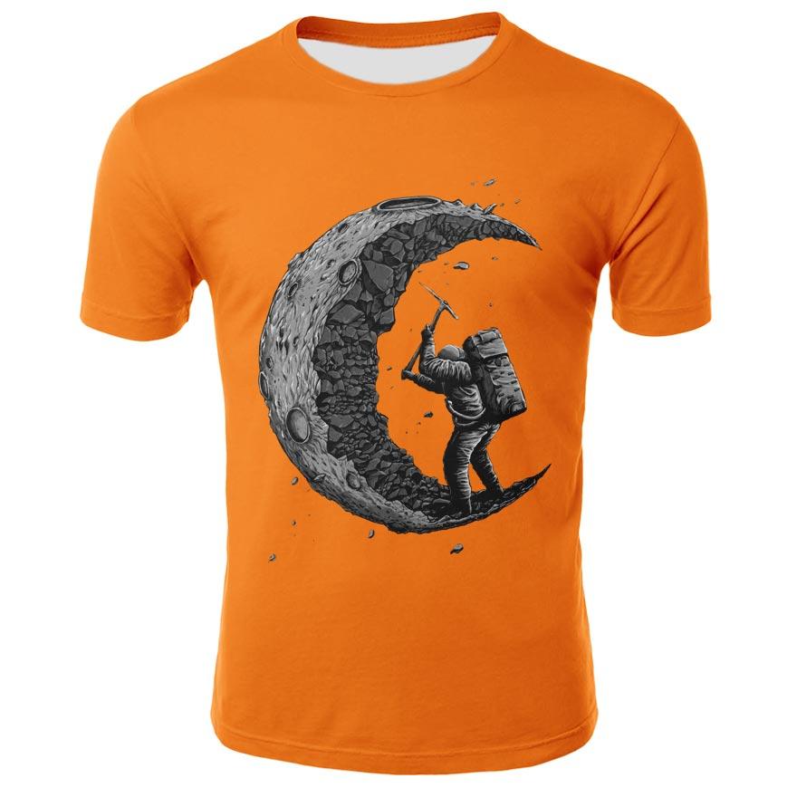 2021Men's and women's solid printed t-shirt men's and women's top solid printed T-shirt solid printed Top Casual top 3D