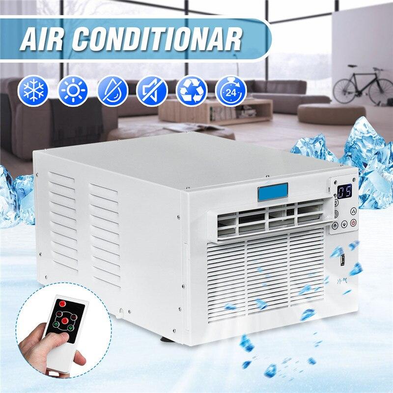Climatiseur de bureau 1500W 220 V/AC 24 heures minuterie froid/chaleur double usage avec télécommande LED panneau de commande Pet climatiseur
