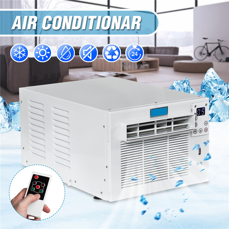 Desktop Air Conditioner 1500W 220V/AC 24-hour Timer Cold/Heat Dual Use With Remote Control LED Control Panel Pet Air Conditione