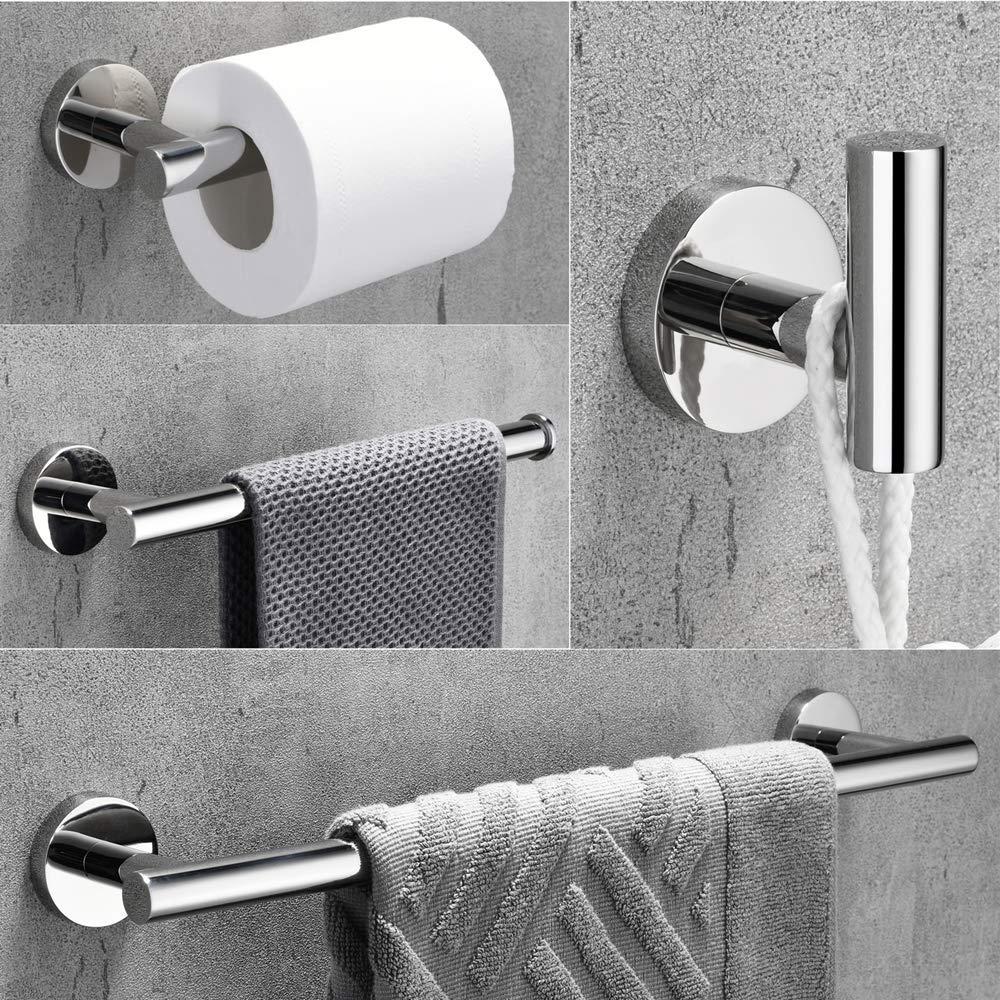 Towel Bar Set Chrome Polish Modern