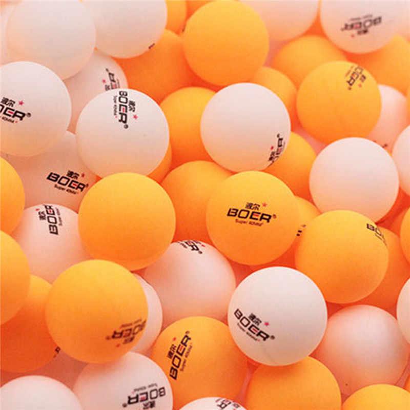 BOER marca 3 unids/set juego de pelotas de tenis de mesa de entrenamiento profesional con pelotas de Ping Pong de venta al por menor de plástico de nitrocelulosa de 40mm