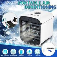 편리한 공기 냉각기 팬 휴대용 디지털 에어 컨디셔너 가습기 공간 쉬운 차가운 가정 사무실을위한 공기 냉각 팬을 정화하십시오