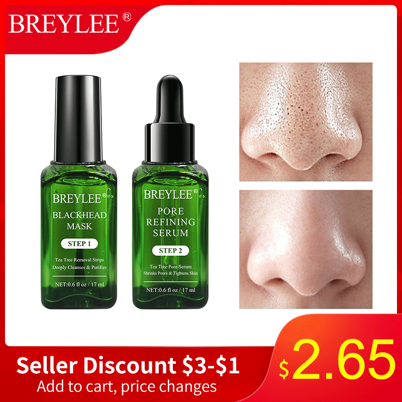 Breylee Blackhead Mask Pore Serum Blackhead Remover Shrinks PoreRefining  Acne Treatment Peel Off Facial Mask Skin Care Essence
