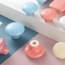 Круглая мебель керамические ручки для шкафчиков карамельный цвет керамическая круглая ручка шкаф современный ящик ручка для шкафа Ручка для кухни