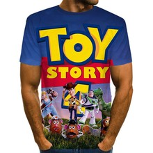 Toy Story 4 Forky Alien T Shirt Summer T-shirt Short Sleeve Men Tops Tees Women Clothes Toy Story 4 Cartoon 3D Harajuku Tshirt(China)