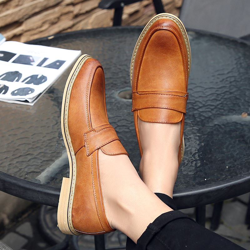 Fashion Pointed Toe Business Dress Shoes Men Loafers Leather Oxford Shoes For Men Formal Mariage Slip On Wedding Party Shoes