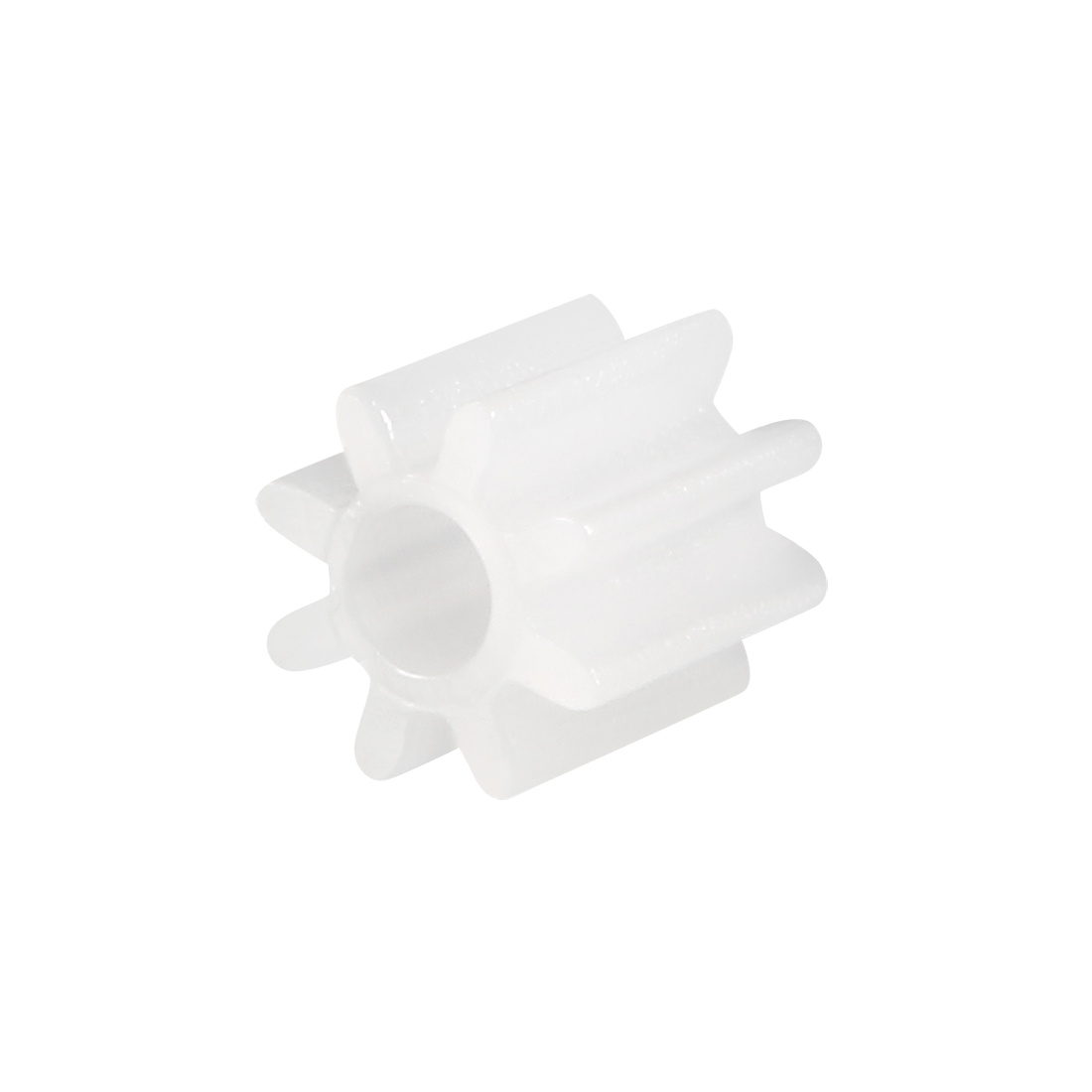 Uxcell 30Pcs 082A Plastic Gear Toy Accessories 8 Teeth White For DIY Car Robot Motor