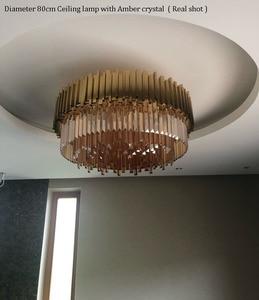 Image 4 - Phube роскошный светодиодный потолочный светильник для спальни