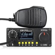2019 새로운 xiegu g1m hf 송수신기 쿼드 밴드 qrp sdr 단파 5 w ssb cw aw 0.5 30 mhz 휴대용 모바일 라디오 아마추어 입력 레벨