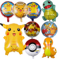 50pcs Cartoon Pikachu Pokemon Go Foil Balloons Children Inflatable toys Helium balloons birthday Kids party decorations Supplies