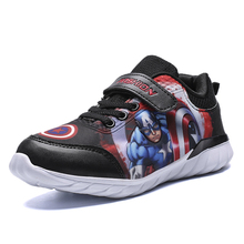kids shoes for girls princess captain america boys sneakers Cartoon baby girl