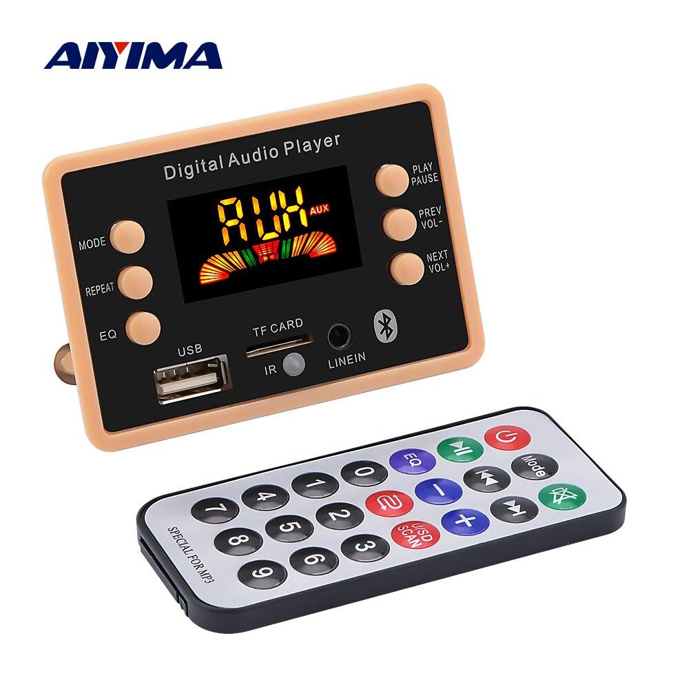 AIYIMA Bluetooth MP3 Decoder Audio Board Bluetooth 5.0 Receiver Car MP3 Player WMA WAV FLAC APE TF Card FM USB Decoding DC12V