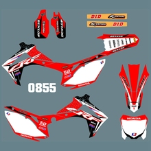 New Full Graphics Decals Stickers Custom Number Name Glossy Bright Stickers for HONDA CRF450 2013 2014 CRF250 2014 2015 2016 h2cnc graphics decal sticker for honda crf250r crf250 2014 2016