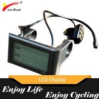 JS 48V 큰 화면 LCD 디스플레이 방수 연결 와이어 자전거 속도계 전기 자전거 액세서리 부품 성인 전자 자전거