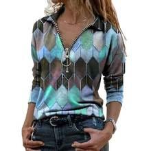 Kadın kıyafetleri bahar sonbahar rahat kazak kadın giyim baskı uzun kollu tişörtler bayanlar moda üst giyim