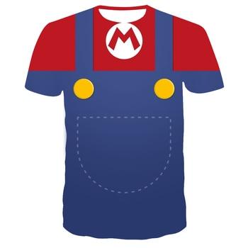 цена 2019 summer New Harajuku style Classic games Super Mario t shirt Mario Bros 3D print t-shirts hip hop tshirt онлайн в 2017 году